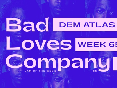 Jam of The Week   65 album art music art jam of the week vector typography graphic design design music hiphop
