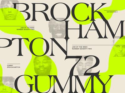 Jam of The Week | 72 album cover art britton stipetic product design alternative hip hop typeface lettering cover design illustration branding graphic design design typography type cover art album art music jam of the week boy bands hiphop brockhampton