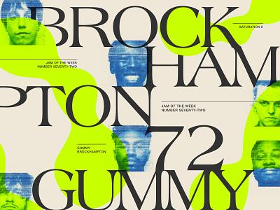 Jam of The Week   72 album cover art britton stipetic product design alternative hip hop typeface lettering cover design illustration branding graphic design design typography type cover art album art music jam of the week boy bands hiphop brockhampton