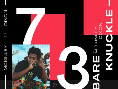 Jam of The Week | 73 music app album art side project passion project branding illustration typography design graphic design musician bare knuckle mckinley dixon jam of the week cover art music art hiphop jazz music