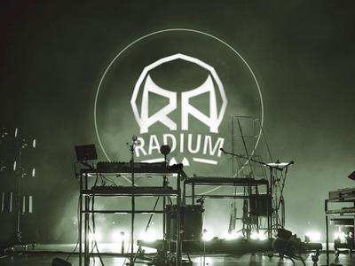 Radium Logo on Stage