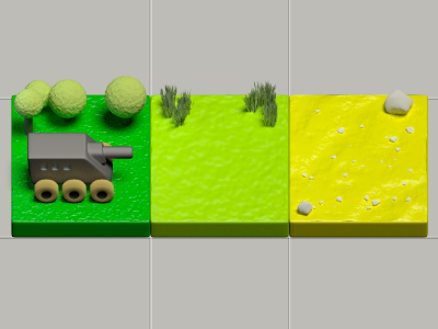 Tank and Tiles game tile 3d tank art