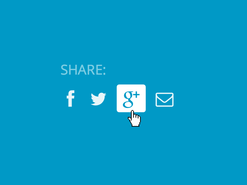 Minimal social sharing buttons for Your Carry social buttons minimal flat