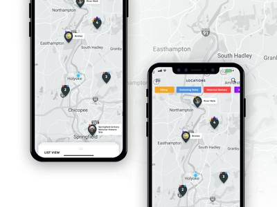WMO x iphone pins location map design product ux ui