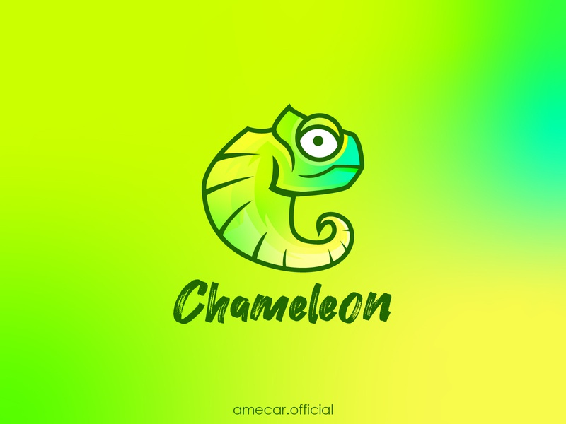 Chameleon vector illustration animal esport esportlogo design vector illustration simple logo