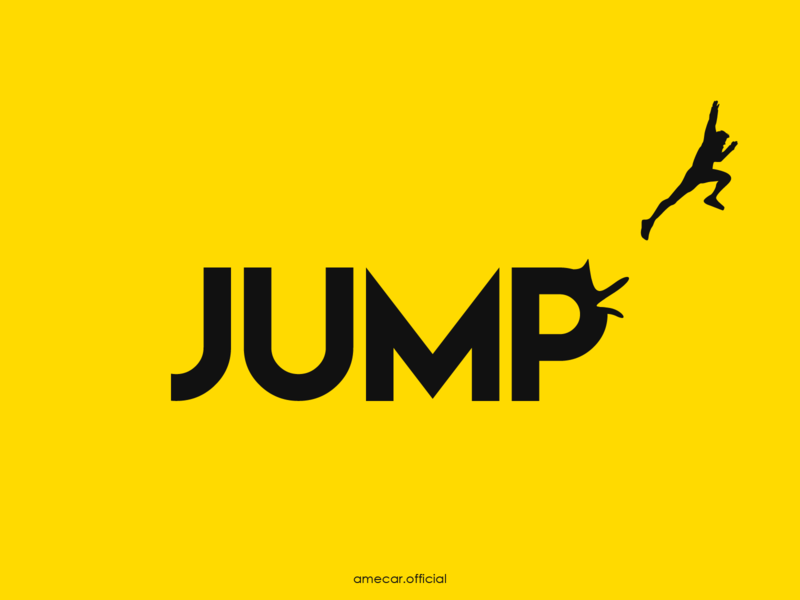 Jump motivation vector illustration vector simple illustration design