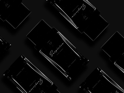 Word of the Day - 002 perfume dark mockup beauty logo branding