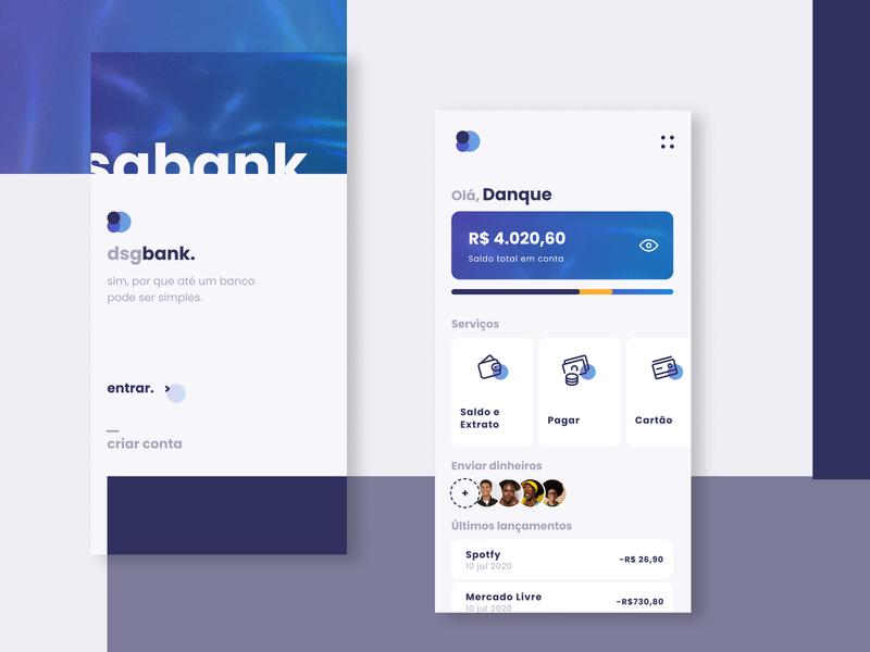 dsgbank. banking app banking fintech app fintech bank uiux app design app minimal dukie ui