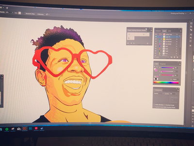 COMMUNITY color work in progress portrait vector illustrator