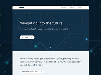 WIP - Mapping Tech nyc mapping navigation tech map branding ui web