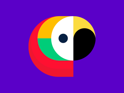 Parrot Icon colorblock icons icon