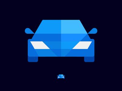 Car geometric icon