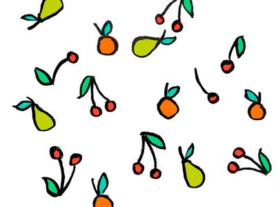 Fruit pear cherry mandarin orange
