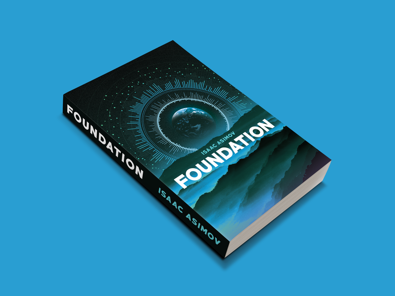 Fiction Book Project - Foundation mockup illustration graphic design fiction editorial collage book cover art