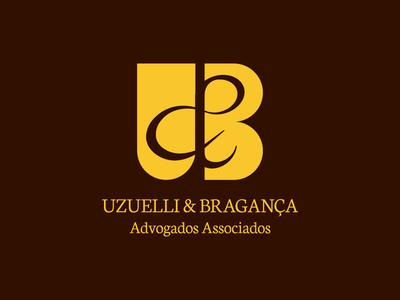 Uzuelli & Bragança Advogados associados lawyers graphic design branding