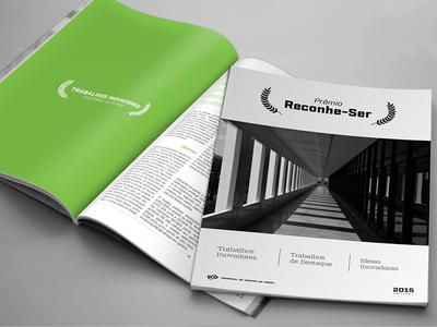 Revista Reconhe-ser symmetry simple graphic design cover magazine
