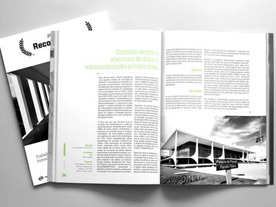 Revista Reconhe-ser simple magazine graphic design cover