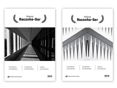 Prêmio Reconhe-ser Magazine blackwhite graphic design cover magazine