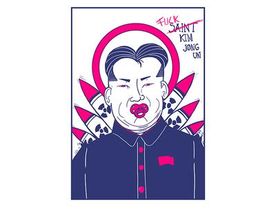F*** Kin jong illustration streetart political