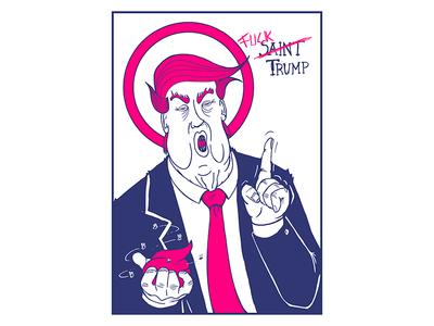 F*** Trump illustration streetart political