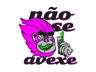 Se Avexe Não illustration tshirt art illustrator cc illusration monkey