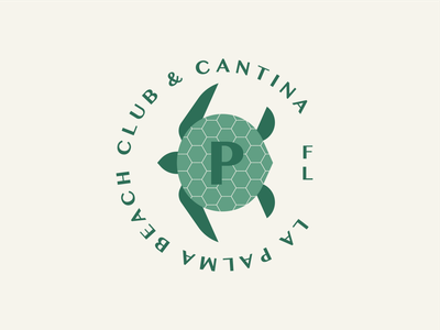 La Palma part 4 bone ocean turtle sea buoy teeth shark jaws tree leaves frond palm coaster coconut seagull badge animal branding illustration logo