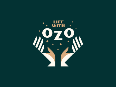 Life With OZO - pt. 1 hand finger light sparkle glow magician minimalist geometric retro mystical magical wellness sanitizer hands illustration logo