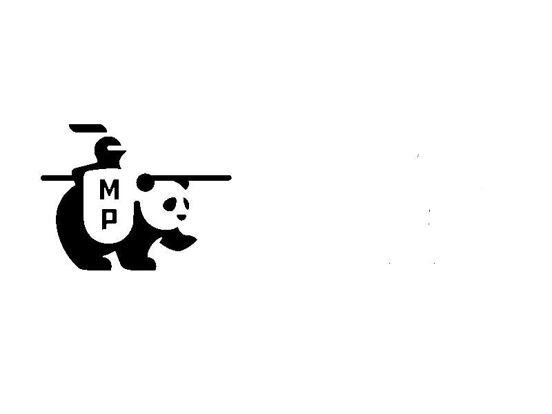 Panda Knight marca personal insignia de identidad de marca escudo caballero oso panda logotipo de ilustración de icono de marca geométrica
