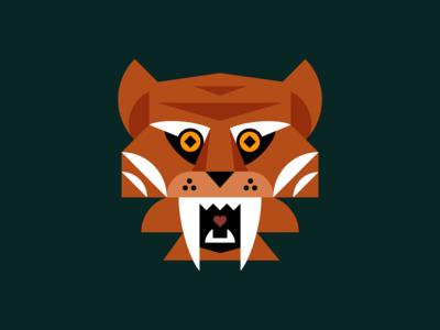 Geometric Tiger Illustration