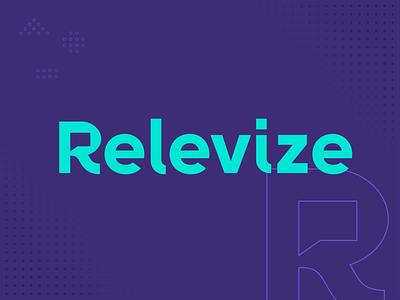 Relevize Brand Identity custom type advertising monogram r revolution relevant conversation speechbubble geometric icon illustration logo