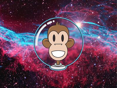 Space Monkey astronaut space monkey vector spacemonkey
