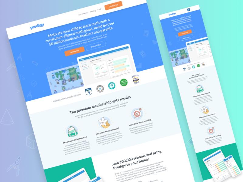 Prodigy Game   Landing Page 🎮 design sales landing page klientboost cro