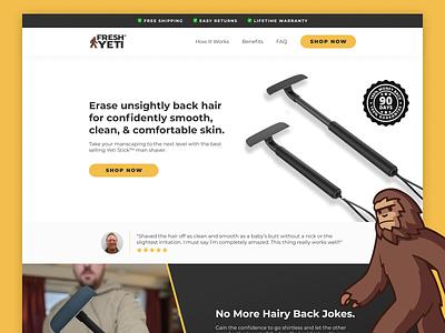 Fresh Yeti  | Landing Page 🧔 ecommerce landing page design ecomm klientboost cro