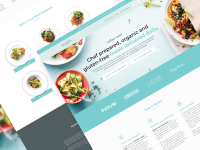 Kooshi Gourmet | Landing Page 🥗 hungry food food delivery ui ads leadgen ecommerce ecomm design landing page klientboost cro