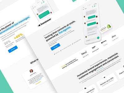 Liverecover | Landing Page 💰 ecomm ecommerce saas app leadgen design landing page klientboost cro