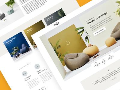 Lujo | Bean Bag Landing Page bean bag klientboost landing page ecommerce ecomm cro