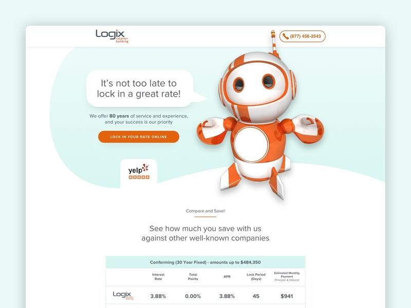 Logix   Mortgage Landing Page mortgage banking financial design leadgen landing page cro klientboost