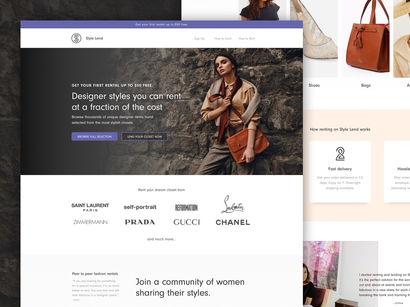 Style Lend | Landing Page ecomm design landing page klientboost cro ecommerce