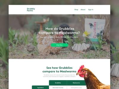 GrubblyFarms | Landing Page 🐓