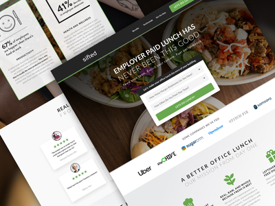 Sifted | Landing Page 🍔 business lunch catering ads advertisement ui leadgen design landing page klientboost cro