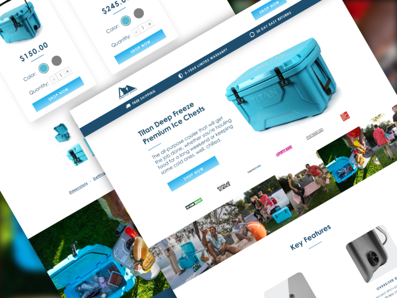 Arctic Zone    Landing Page 🍦 advertisement klientboost design ecommerce ecomm landing page cro