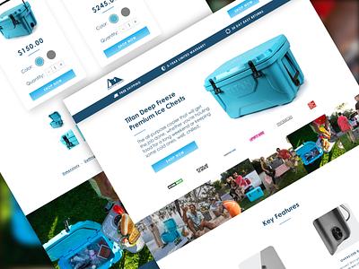 Arctic Zone  | Landing Page 🍦 advertisement klientboost design ecommerce ecomm landing page cro