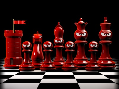 Itchin' for a Fight editorial art c4d toydesign toy chess illustrator 3d illustration