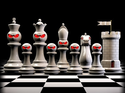 Itchin' for a Fight editorial art chess art editorial illustrator c4d illustration 3d