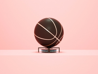 Flamball dribbble personal direction art octane c4d