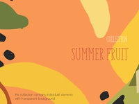 Summer fruits collection