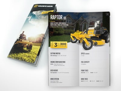 Hustler Turf Equipment – 2017 Product Line Booklet hustler mowing zero-turn yellow booklet print brochure hustler turf equipment