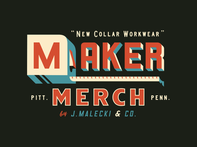 New Collar pittsburgh illustrative logo lockup branding maker