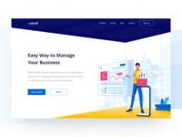 Header Illustration for Business Management