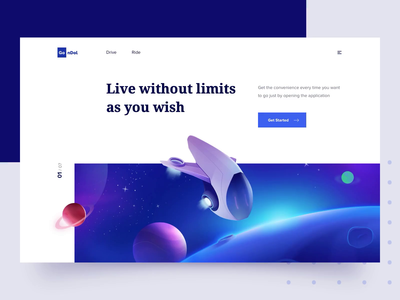 Space Header space header planet design clean business icon ui illustration landing page